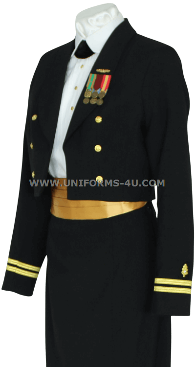 Brilliant Womens Navy Blue Dress Coat Jacket 18L Uniform All Weather Military