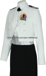 US COAST GUARD AUXILIARY FEMALE DINNER DRESS WHITE (DDW) UNIFORM