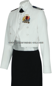 us coast guard auxiliary female dinner dress white uniform