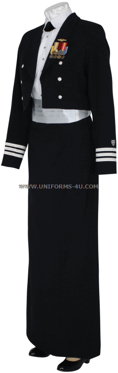 Us Coast Guard Auxiliary Female Dinner Dress Blue Ddb