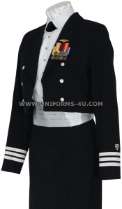 us coast guard auxiliary female dinner dress blue uniform