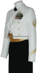 U.S. COAST GUARD FEMALE ENLISTED DINNER DRESS WHITE JACKET UNIFORM