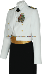 U.S. COAST GUARD FEMALE OFFICER DINNER DRESS WHITE JACKET UNIFORM