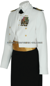 us coast guard female officer dinner dress white uniform