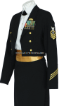 us coast guard female enlisted / cpo dinner dress blue uniform