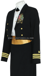 us coast guard female officer dinner dress blue uniform