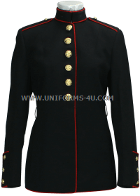 usmc female enlisted dress blue coat