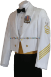 U.S. NAVY MALE CPO / ENLISTED DINNER DRESS WHITE JACKET UNIFORM
