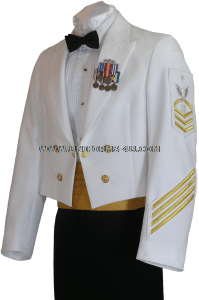 us navy dinner dress white cpo / enlisted uniform