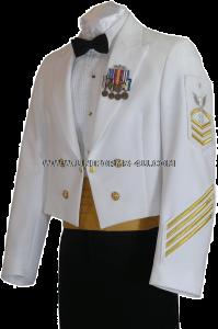 Us Navy Dinner Dress White Enlisted Cpo Uniform