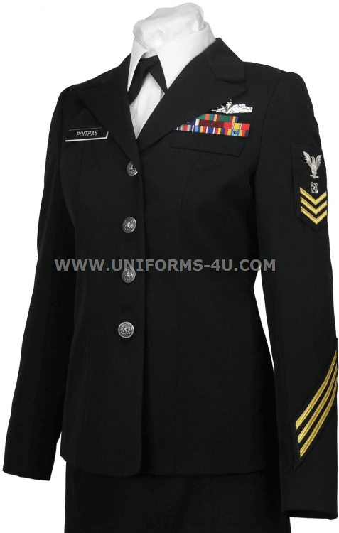 Us Navy Female Enlisted Cpo Service Dress Blue Uniform