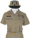 us navy female officer / cpo summer khaki uniform