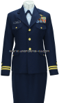 U.S. COAST GUARD FEMALE OFFICER SERVICE DRESS BLUE UNIFORM