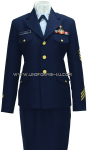 U.S. COAST GOARD FEMALE ENLISTED / CPO SERVICE DRESS BLUE UNIFORM