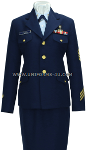 us coast guard female service dress blue (sdb) enlisted / cpo uniform