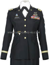 us army officer female blue army service uniform - asu