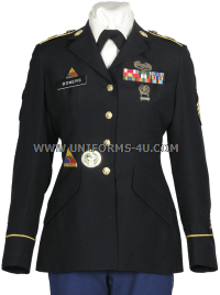 us army enlisted female blue army service uniform - asu