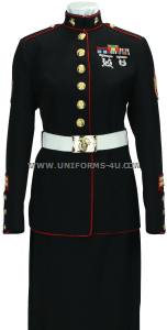 usmc female enlisted dress blue uniform