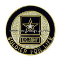 army soldier for life veteran lapel pin