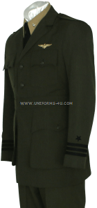 us navy officer aviation working green uniform