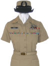 U.S. NAVY FEMALE CHIEF PETTY OFFICER SERVICE KHAKI UNIFORM