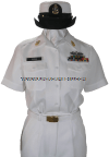 U.S. NAVY FEMALE CHIEF PETTY OFFICER SUMMER WHITE UNIFORM