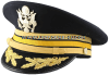 U.S. ARMY SERVICE CAP FOR FIELD GRADE ELECTRONIC WARFARE OFFICERS