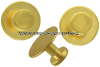 USMC CONCAVE GOLD STUDS - SET OF 3