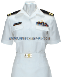usphs female summer white uniform
