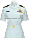 US MERCHANT MARINE FEMALE SUMMER WHITE UNIFORM
