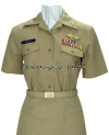 US MERCHANT MARINE FEMALE SUMMER KHAKI UNIFORM
