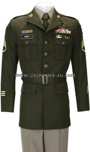 us army enlisted male army green service uniform - agsu