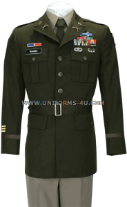 us army officer male army green service uniform - agsu