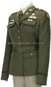 us army officer female army green service uniform - agsu