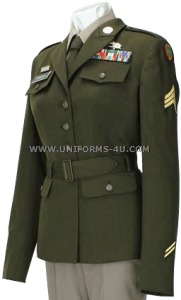 us army enlisted female army green service uniform - agsu