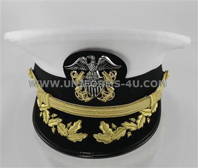 U.S. NAVY CAPTAIN   COMMANDER WHITE COMBINATION CAP e1d4c1d1f36