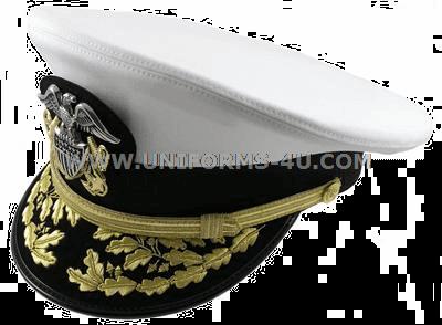 U.S. NAVY ADMIRAL WHITE COMBINATION CAP (O-7 TO O-10) 1f4e7b06cdf