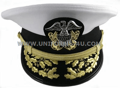 1f2d45e4cfefbd U.S. NAVY ADMIRAL WHITE COMBINATION CAP (O-7 TO O-10)