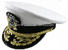 U.S. NAVY ADMIRAL WHITE COMBINATION CAP (O-7 TO O-10)