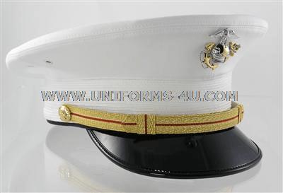 usmc company grade white dress hat