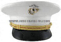 USMC COMPANY GRADE WHITE DRESS HAT