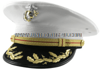 USMC FIELD GRADE WHITE DRESS HAT