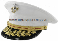 USMC GENERAL WHITE DRESS HAT