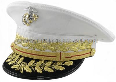 USMC COMMANDANT DRESS WHITE HAT