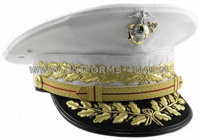 USMC COMMANDANT DRESS WHITE HAT 21c6aa2d3de3