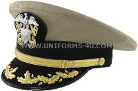 U.S. NAVY COMMANDER / CAPTAIN KHAKI COMBINATION CAP (O-5, O-6)