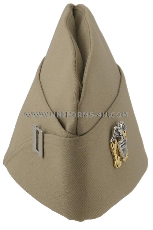 46f5b37e290 U.S. NAVY OFFICER   CHIEF PETTY OFFICER KHAKI GARRISON CAP