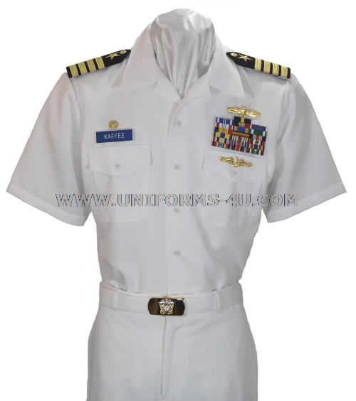 Navy service dress white creases