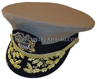 U.S. NAVY ADMIRAL KHAKI COMBINATION CAP (O-7 TO O-10)