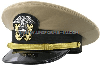 U.S. NAVY OFFICER/CWO KHAKI CAP (O-1 TO O-4, W-2 TO W-5)